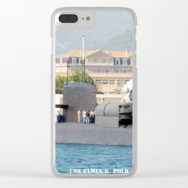 USS JAMES K. POLK (SSBN-645) Clear iPhone Case