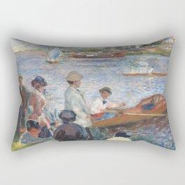 Renoir meets Seurat at the river Rectangular Pillow