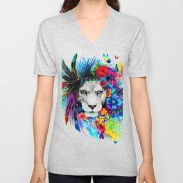 Hipster Lion Unisex V-Neck