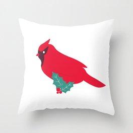 cardinal bird Throw Pillow