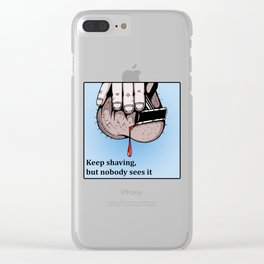 There will be blood Clear iPhone Case