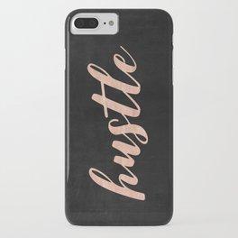 Hustle Rose Gold Pink on Black iPhone Case
