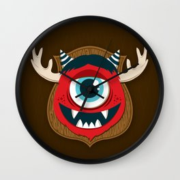 Monster Trophy  Wall Clock