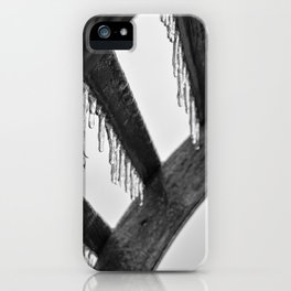 Icicles on Wood iPhone Case