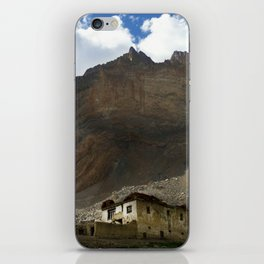 Under the shadows of the moutains iPhone Skin