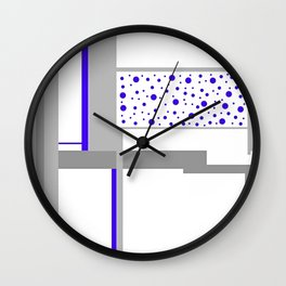 """CREATIVE ART PRINT WITH GRAY AND CLUE """"KEVIN CLUES"""" Wall Clock"""