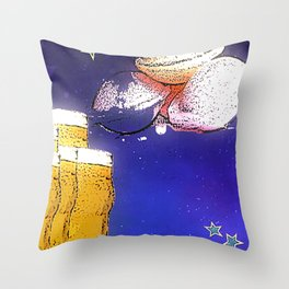 Flying Saucers bywhacky Throw Pillow