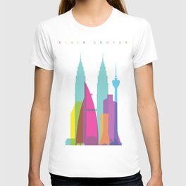 Shapes of Kuala Lumpur. Accurate to scale T-shirt