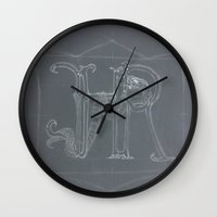 sketch Wall Clocks featuring Sketch  by +A.M.D.G+