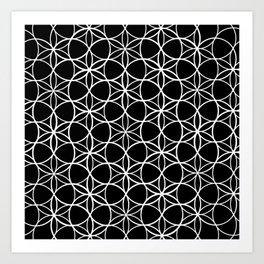 Flower of life pattern Art Print