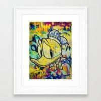 duck Framed Art Prints featuring duck by casper smith