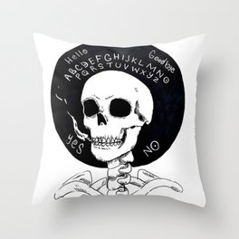 Smokers Devil Throw Pillow