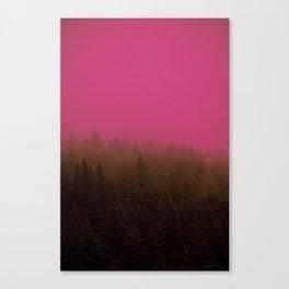 Pink & Chocolate Taffy Fog - Seward, Alaska Canvas Print