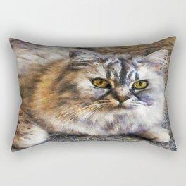 Brown Cat Rectangular Pillow