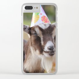 Ginger, having a good time Clear iPhone Case