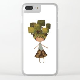 Tree head Clear iPhone Case