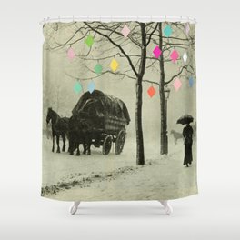 Christmas Day Shower Curtain