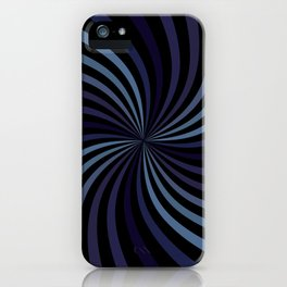 Deep Blue Swirl iPhone Case