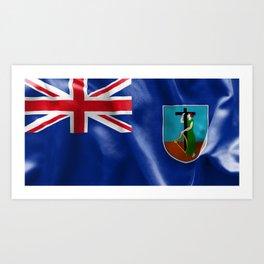 Montserrat Flag Art Print