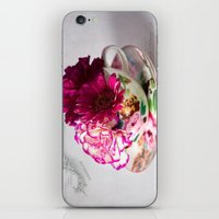 shabby chic iPhone & iPod Skins featuring Shabby chic floral by inkedsandra
