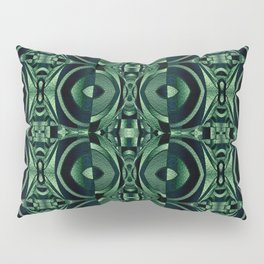 Stained Glass Collection IV Shades Of Palm Leaves Pillow Sham