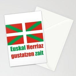 Flag of Euskal Herria 4 Stationery Cards