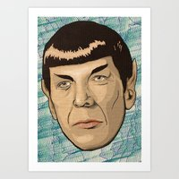 spock Art Prints featuring Spock by Mimi