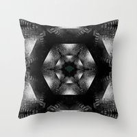 grim fandango Throw Pillows featuring Grim by Loesj
