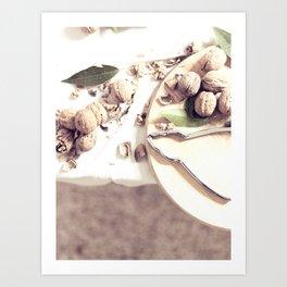 Kitchen, food still life, macro photo, interior design, home decoration, wall, house, food porn Art Print