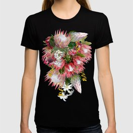 Fuchsia  Protea's with Blush & Gold ribbons T-shirt