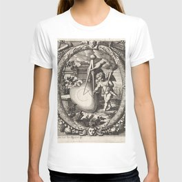 Vintage Cupid Etching Circa 1650 T-shirt