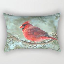 Dreamy Morning (Northern Cardinal) Rectangular Pillow