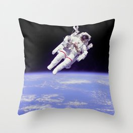 Astronaut on a Spacewalk Throw Pillow