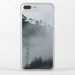 Swiss Fog II Clear iPhone Case