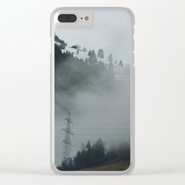 Swiss Fog II Clear iPhone Case