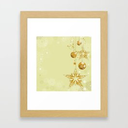 Christmas ornaments background Framed Art Print