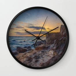 Rocky Shores | Oil Painting  Wall Clock