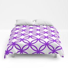 Interlocking Purple Comforters