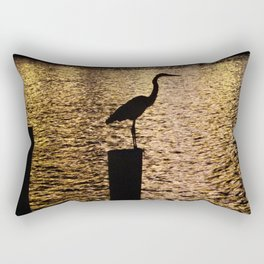 Heron Silouette Rectangular Pillow