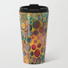 Dots on Painted and Gold Background Travel Mug