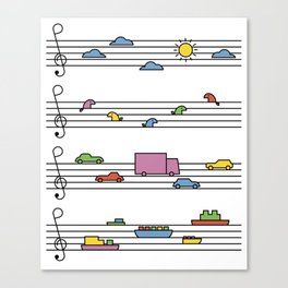 Life In Tune Canvas Print
