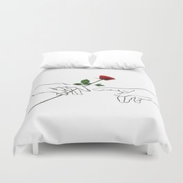 The Creation of a Rose Duvet Cover