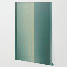 Laguna Blue and Mango Stripes Wallpaper