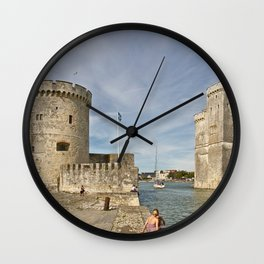 France Tower La Rochelle, Old port, Charente-Maritime Bay Cities towers Wall Clock