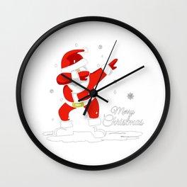 Dabbing Santa Merry Christmas Wall Clock