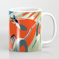 grand theft auto Mugs featuring Retro style auto Grand Prix Rivièra by aapshop