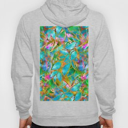 Floral Abstract Stained Glass G265 Hoody