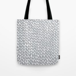 Hand Knit Zoom Grey Tote Bag