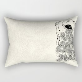 Jungle Peacock Rectangular Pillow