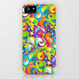 Dolphins, Seals and Sea Life in Tropical Ocean Waves iPhone Case
